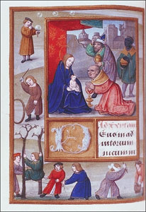 Adoration of the Magi, Book of Hours, Syracuse University, Ms 7, fol. 86v (ca. 1484-1529)